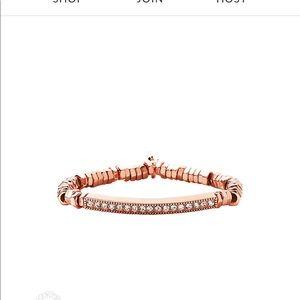 Serena stretchy rose gold bracelet